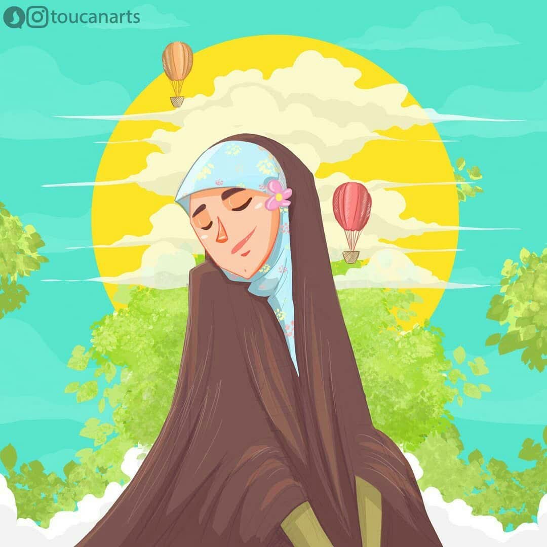دختر چادری