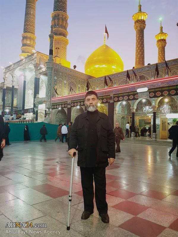 سید قیام الدین غازی در حرم حضرت معصومه